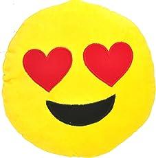 Chords Heart-Eyes Smiley Emoticon plush soft toy cushion