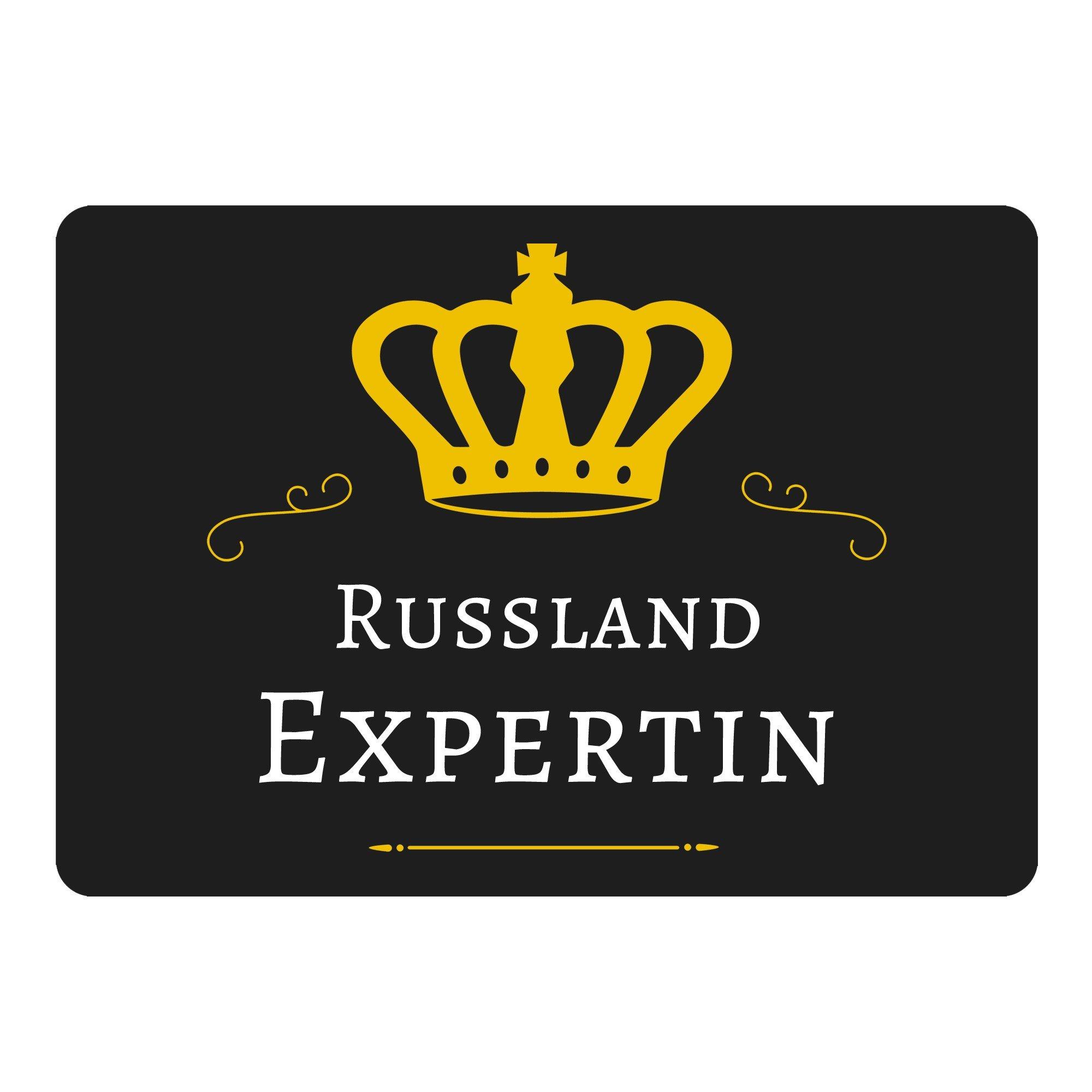 tappetino per mouse Russia riconosciuta Nero