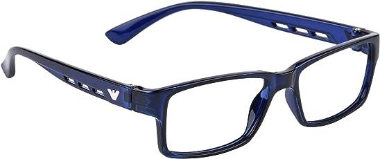 Hawk-i Full Rim Rectangular Unisex Spectacle Frame (Blue)