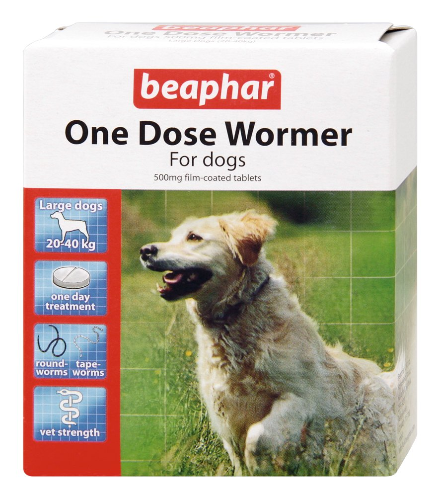 BEAPHAR ONE DOSE WORMER FOR LARGE DOGS 20-40 KG