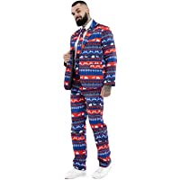 U LOOK UGLY TODAY Christmas Suit Party Mens Funny Novelty Xmas Jacket Costume, Ugly Christmas Suit Outfit-Regular Fit