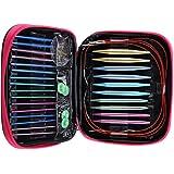 13Paires Daiguilles Circulaires Interchangeables, Aiguilles à Tricoter Circulaires avec tête d'aiguilles 2.75mm-10mm