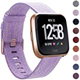 CAVN Compatible with Fitbit Versa Strap/Versa Lite/Versa 2 Strap Woven for Women Men, Fabric Band Nylon Sport Wrist Straps with Adjustable Clasp Watch Strap for Versa 2 Smartwatch