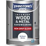 Johnstone's 306534 Duurzame niet Druppelglans, Briljant Wit, 1,25 Liter