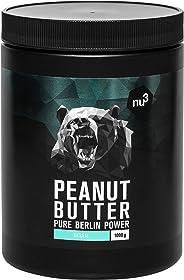 nu3 Erdnussbutter - Peanut Butter - 1 Kg pure natürliche Erdnussbutter, Erdnussmus Vegan & ohne Zucker, keine Zusätze von Sal