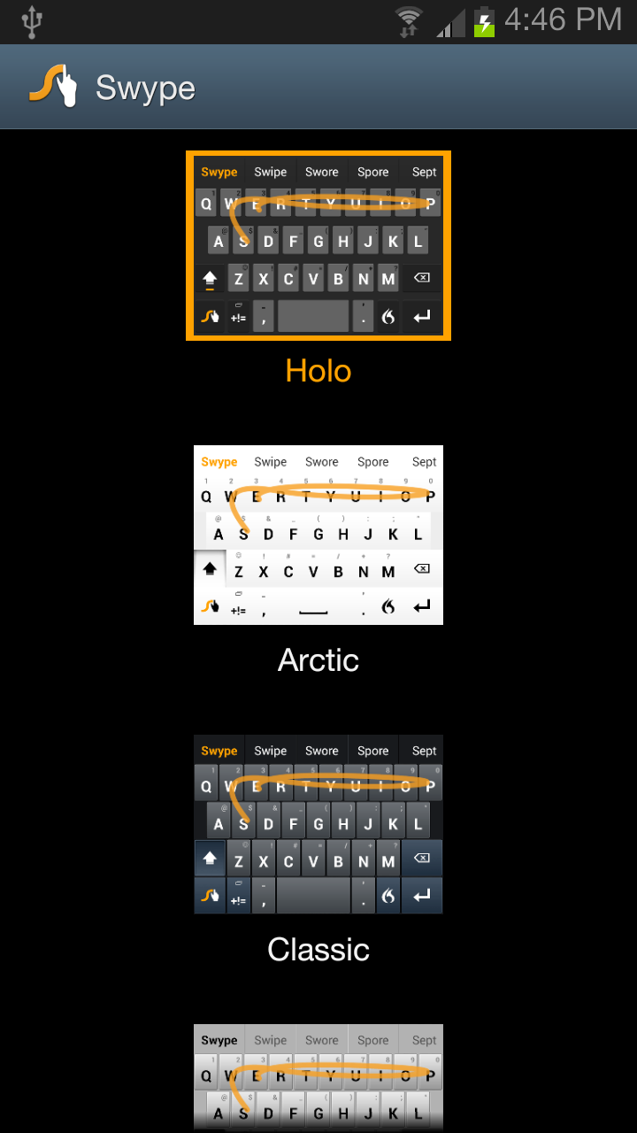 Swype Keyboard Screenshot