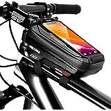 TEUEN Bolsa Bicicleta Impermeable Bolsa Movil Bici con Ventana para Pantalla Táctil, Bolsa para Cuadro Bicicleta Montaña para