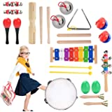Herefun Juguetes de Instrumentos Musicales para Niños 22 en 1 Percusión Set Música Juguete Instrumento Educativo Bebés Regalo