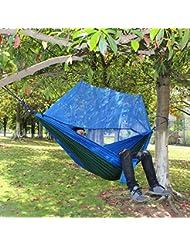 FEMOR Tragbaren Hängematte mit Moskitonetz für Outdoor, Camping, Reisen, Wandern, Trekking, Hinterhof Lager von 200 KG