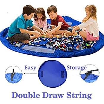 "150cm//60/"" Portable Kids Play Mat Storage Bag Toys Organizer Rug Box For Doll US"