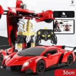 Jack Royal RC Robot Transformer Toy Car with Robot Deformation,LED Headlights Children Gifts
