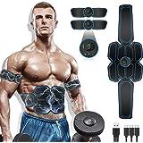 MATEHOM Electroestimulador Muscular Abdominales, Masajeador Eléctrico Cinturón con USB, Estimulación Muscular Masajeador Eléc