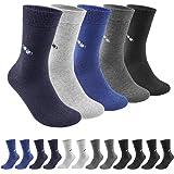 QINCAO Calzini Uomo e Donna Sportivi 12 Paia Calze Lunghe Cotone Sport Calzettoni con Buona Elasticità Alti Socks da Corsa