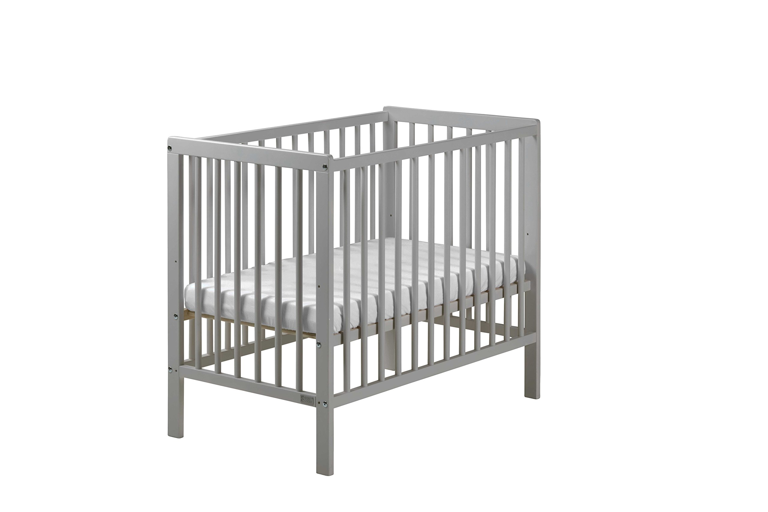 East Coast Carolina Space Saving Cot, Grey East Coast 3 base heights 2 fixed sides Foam mattress included 1