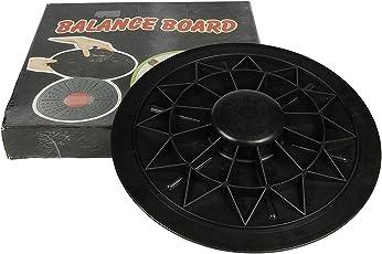 Sports india international (Roxan) Unisex Plastic Balance Board, 40cm (Black/Red, BAL_B_1)