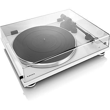 Lenco L-87WH Aluminium Slimline Plattenspieler - MP3 Konvertierung - Weiss
