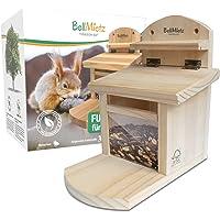 BellMietz® geliebtes Eichhörnchen Futterhaus [extra sicher & stabil]   Eichhörnchenhaus mit innovativem Belüftungssystem…
