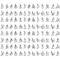 SAVITA 130 Pezzi ABC Lettera Charms Mini Alfabeto A-Z Bracciale in Lega di Zinco Pendenti con Collana per Creazione di…