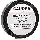 GAUDER Magnetband Selbstklebend I Magnetklebeband Magnetklebestreifen Magnetisches Klebeband Magnetstreifen Schule Prasentationen