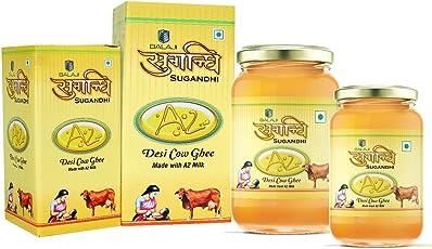 Sugandhi Organic Desi Cow Ghee Made with A2 Milk (1 Liter) 100% Genuine & Authentic