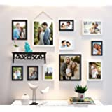 Art Street Photo Frame Set of 11 Individual Black & White Wall Photo Frames With Wall Shelf for home decoration