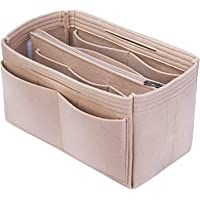 NEPAK Purse Organizer,Handbag Organiser,Felt Bag Organize(M,Beige)
