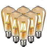 Edison Vintage gloeilamp, Edison LED-lamp, warmwit, E27, 4W, retro gloeilamp, vintage antieke gloeilamp, ideaal voor nostalgi