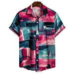 ♛2019 Clearance Sale♛ - Chamery Summer Shirt for Men,Mens Ethnic Short Sleeve Casual Cotton Linen Printing Hawaiian Shirt...
