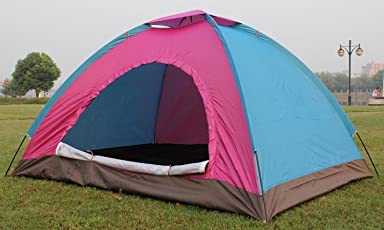 BESTOW® Most Superior Quality Picnic Hiking Camping Portable Dome Tent for 4 Person Waterproof with Bag