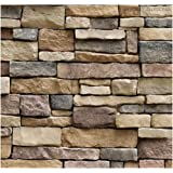 Univocean 3D Modern Stone Style Rustic Effect Wall Poster, Wallpaper, Wall Sticker, PVC Adhesive Home Decoration…