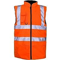 Hi Viz Vis Bodywarmer Fleece Lined Reversible High Visibility Reflective Waterproof Workwear Security Safety Wear Warm…