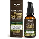 WOW Skin Science Anti Acne Face Serum - Natural Neem Leaf Oil, Tea Tree Oil, Caviar Lime Fruit Extract - Spot Therapy - No Pa