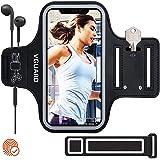 VGUARD Sportarmband för Phone 11 / Pro / Pro MAX, Svettbeständig Jogging Mobilväska Löpning med Nyckelhållare, Hörlurshål och