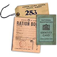 WW2 Replica Ration Book, Evacuee Tag and Identity Card by Memorabilia Pack Company