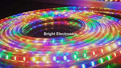 Bright Electronics Decorative 10 Meter LED Rope Light, Water Proof, Color: RGB(RED, Green & Blue-Multi Color) with Adapter