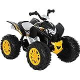 ROLLPLAY Quad Électrique, À partir de 3 Ans, Jusqu'à 35 kg, Batterie 12 Volts, Jusqu'à 4,5 km/h, Powersport ATV, Noir