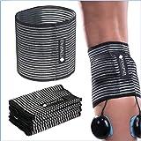 TENSPAD SILVER Set van 4 elastische bandjes met klittenband om elektroden vast te houden