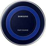Samsung Original Fast Wireless Charging Pad with Travel Adaptor - Blue/Black