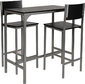 ts-ideen 3-Teilige Essgruppe 3er Set Tisch Stühle Esstisch