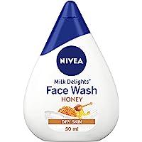 NIVEA Women Face Wash for Dry Skin, Milk Delights Honey, 50 ml