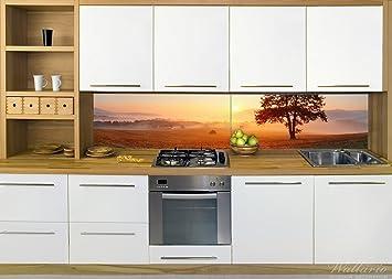 wallario küchenrückwand aus glas, in premium qualität, motiv ... - Küchenrückwand Glas Motiv