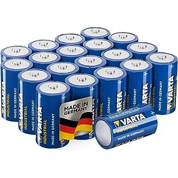 Varta Industrial Batterie D Mono Alkaline Batterien D 20, Made in Germany