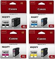 Canon PGI-1400 XL Pigment Ink Cartridge Set