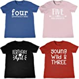 Childrens T-Shirt BIRTHDAY DESIGNS Ages 3-8 Kids Childs Top Gift Present