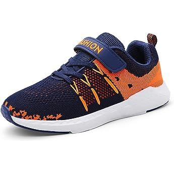 Dunkelblau Orange-a Unpowlink Kinder Schuhe Sportschuhe Ultraleicht Atmungsaktiv Turnschuhe Klettverschluss Low-Top Sneakers Laufen Schuhe Laufschuhe f/ür M/ädchen Jungen 28-37 28 EU