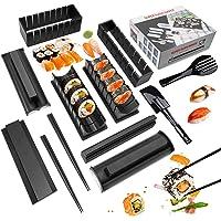 Mlryh Sushi Maker Kit 12 PCS Moules à Sushi Kit De Préparation De Sushi Set riz Rouleau Kit Sushi Sushi Maker DIY…