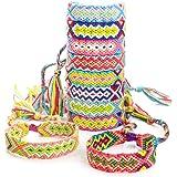 RUBY - 10 braccialetti estivi fatti a mano regolabili multicolori intrecciati braccialetto braccialetto amicizia tessuto stil