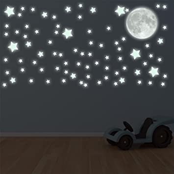 Supertogether Glow In The Dark Moon and Stars Childrens Bedroom Sticker  Decals  Amazon co uk  Toys   Games. Supertogether Glow In The Dark Moon and Stars Childrens Bedroom