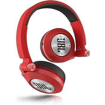 JBL E40 BT Cuffie Stereo Bluetooth Imbottite, Ricaricabili, Wireless, Compatibili con Dispositivi Apple iOS e Android, Rosso