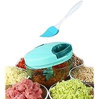 Tenta Kitchen 1.3-Cup/330ml Pull String Manual Food Processor/Vegetable Slicer/Chopper/ Dicer/Mincer/Blender - To Chop…